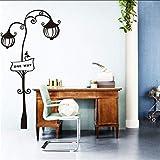 mmwin Billig EntfernbareWohnkultur Straße Lichter Wandaufklebercartoon Schönestraßenlaterne Haus Dekor AufkleberIm Shop58 * 115 cm