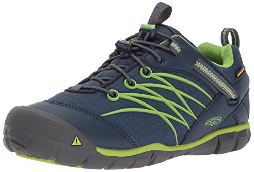 Keen Unisex-Kinder Chandler CNX WP Trekking-& Wanderhalbschuhe, Blau (Dress Blues/Greenery Dress Blues/Greenery), 38 EU