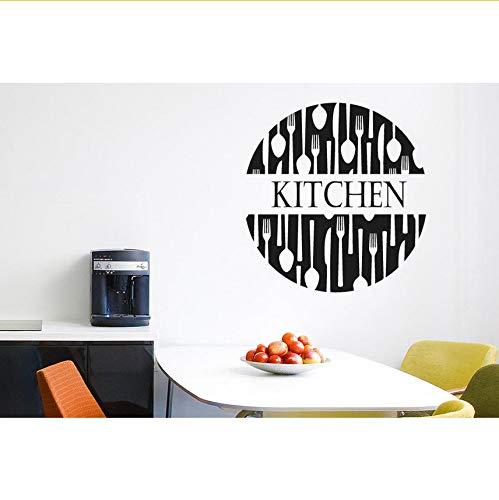 Ljtao Gabeln Und Löffel Küche Zeichen Humor Wandaufkleber Schneiden Stirbt Vinyl Art Decals