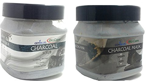 BioCare Charcoal Mask and Charcoal Scrub,Combo of 2, 500ml. Each