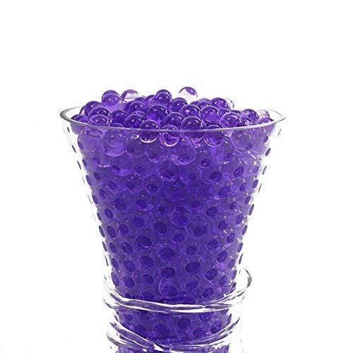 Perlen Aqua Bio Gelee Pearl Ungiftig 50G für Pflanze Vase Füller,Hochzeitsdekoration,Mittelstücke, Lila ()