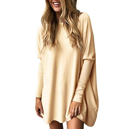 Abcone-donna pullover [s-xl] felpa round neck loose solid batwin t-shirt maniche lunghe elegante autunno camicette camicie casual tops