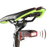Luce della Bicicletta Allarme Intelligente Luce della Bici LED fanale Posteriore Antifurto USB Ricaricabile Campana elettrica luci della Bici IPX65 Impermeabile 6 modalità Dimming Cycle Lights per la