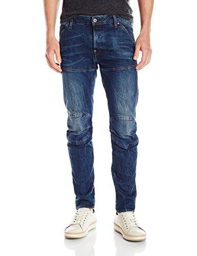 G-STAR RAW Herren 5620 Elwood 3D Jeans Blau (Vintage Dark Aged)