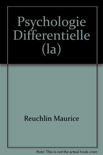 Psychologie Differentielle (la)