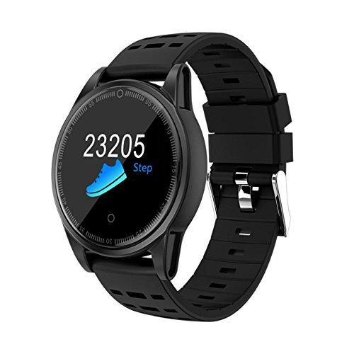LCLrute Neue Smart Watch Mehrere Fitness-Modi Übung Herzfrequenz Schrittzähler (Schwarz)