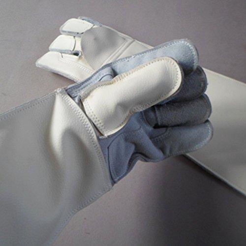 Handschuhe Verdickung Handschuhe Double Grooming Trim Tierpflege Kratzer beißen Frost Frost Arbeitshandschuhe Männer & Frauen Weiß 1 Paar