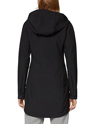 Bench Damen Mantel Slim Longline Bonded Schwarz (Black Beauty Bk11179)