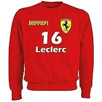 "Felpa Ferrari Formula Uno""16 Leclerc""""55 Sainz"" F1 Inspired"