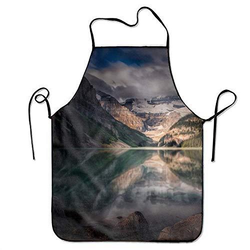 Not Applicable Unisex Küchenschürzen Kanada Forest Beaver Reflection Chef Schürze Kochschürze Grillschürzen