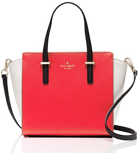 Kate Spade Cedar Street Small Hayden, Borsa a mano donna multicolore multicoloured Small Red, white, and black