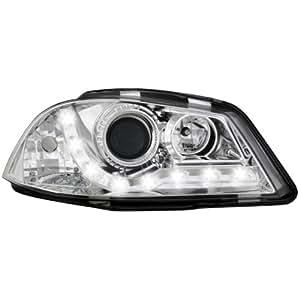 Dectane SWSI05AGX Lot de 2 phares Dayline avec feux de circulation diurnes pour Seat Ibiza 6L entre 2003 et 2008 (Chromé)