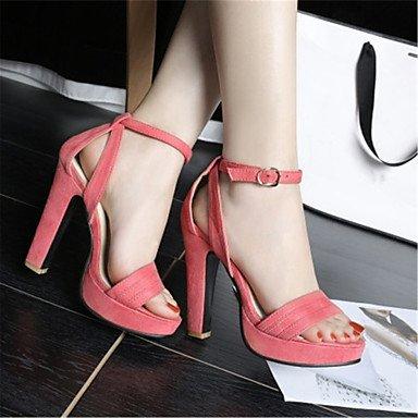 LvYuan Da donna-Sandali-Formale Casual-Alla schiava-Quadrato-Velluto-Nero Rosa Arancione Black