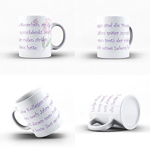 Creativgravur® Kaffeetasse Kaffeebecher - Für die besten Kollegen und Freunde zum Abschied - das perfekte Geschenk für Arbeitskollegen zum Abschied