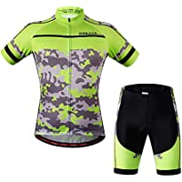 WWANGYU Manga Corta Jerseys Ciclismo Unisex Mountain Bike Jerseys,S