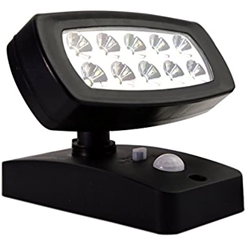 LED Sensor de movimiento de luz solar LED lámpara de jardín camino luz interruptor regulador de intensidad de luz para jardín Patio balcón equitación estable (alimentador)