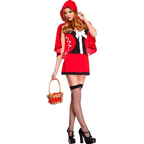 LVLUOYE Gioco Cosplay di Travestimento di Halloween Sexy Cappuccetto Rosso Costume Signore Uniform Set Costume di Scena, Keep fottuto Go Wristband
