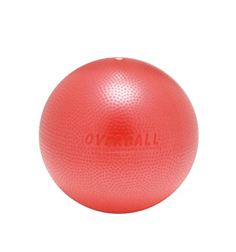 Overball 25cm BLAU ROT GELB PILATESBALL Gymnastikball, Yoga Übungsball, Yogaball, Soft Pilates, Therapieball, GYMNIC (rot)