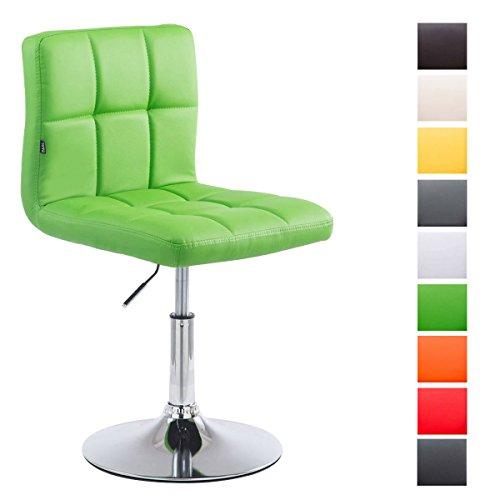 CLP Silla de Espera Palma V2 con tapizado de Cuero sintético. Aguanta un Peso máximo de 135 kg. La Silla de Visita está Acolchada, el Asiento es giratório y la Altura Regulable. Verde