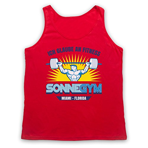 Pain And Gain Gym Ich Glaube An Fitness Tank-Top Weste Rot