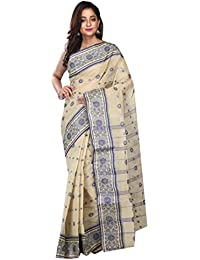 Badal Textile Handloom Cotton Tant Saree, Traditional Bengali Wear