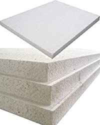 12 Large White Rigid Polystyrene Foam Sheets Boards Slabs - Size 1200mm Long x 600mm Wide x 25mm Thick / 4ft x 2ft - EPS70 SDN Floor Wall Insulation Sheeting Packing Void Loose Fill Filler Protective Packaging