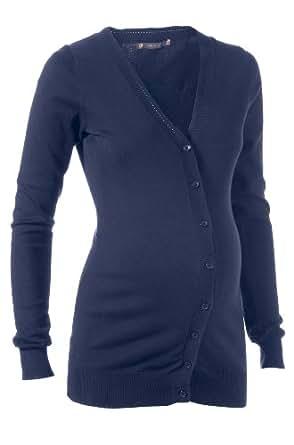 Noppies Damen Umstandsmode/ Pullover & Strickjacke  70458, Gr. 36 (S), Blau (30 navy)
