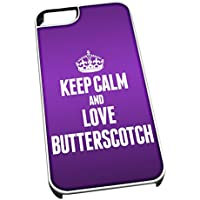 Bianco cover per iPhone 5/5S 0884 viola Keep