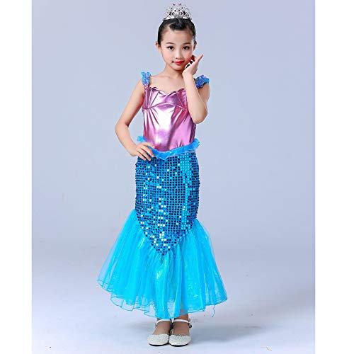 Baby Mädchen Kostüm Ariel - HJ&WL Meerjungfrau Kostüm Mädchen Kleid Kinder Ariel Kostüme Prinzessin Kleider Abendkleid Halloween Cosplay Verrücktes Kleid Geburtstag Party Ankleiden