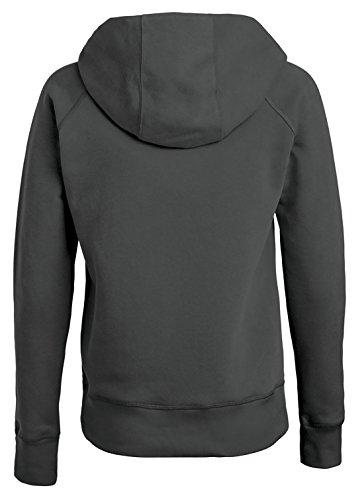 Damen Hoodie, Kapuzenpullover uas 85% Biobaumwolle und 15% Polyester, Damen Bio Pullover, Damen Bio Hoodie, Damen Sweater Baumwolle (Bio), Anthrazit