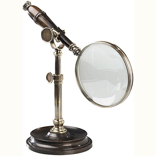 Authentic Models Magnifying Glass with Stand, Bronzed