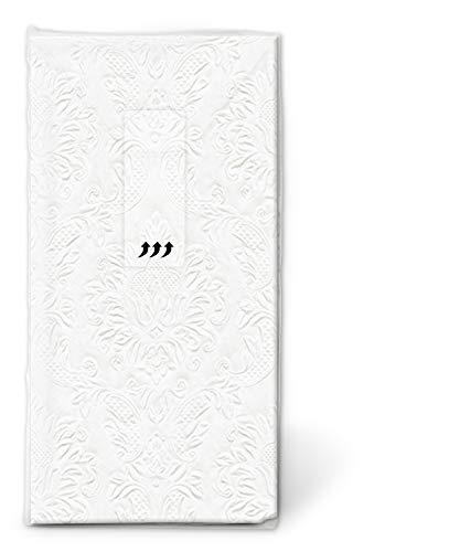 Paper+Design 1 Packung Taschentücher geprägt perlmut für die Hochzeit Freudentränen Kirche