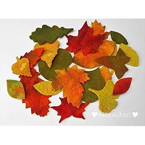 Herbstblätter von Hand gefilzt, 20 Stück