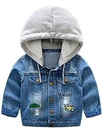 ARAUS Niños Chaqueta Vaquera con Capucha Demin Jacket Abrigo Sudadera Primavera y Otoño para Niñas Bebé