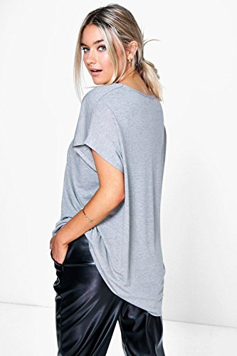 blanc Femmes Isobel T-shirt Surdimensionné À Col En V Blanc