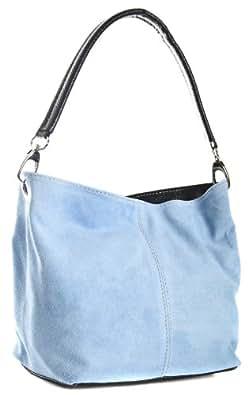 Big Handbag Shop Womens Small Mini Single Strap Hobo Slouch Shoulder Bag (02 Baby Blue)