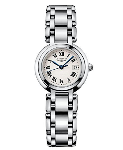Longines Primaluna plata Dial Acero inoxidable Acero Damas Reloj L81104716por Longines