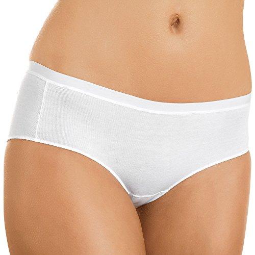 5er Pack Damen Hipster - Nina von C. - Slipboutique - Weiß, Schwarz, Nude - Größe 36 bis 46 - Damenslips aus elastischer Baumwolle - Slip Made in Europe Nude