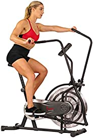 Sunny Health & Fitness Unisex Adult SF-B2715 Zephyr Air Bike - Black, One
