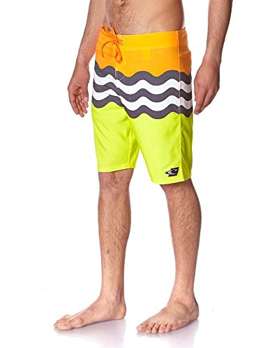 O'Neill PM Jordy Freak Herren Boardshort Badehose yellow aop Größe 30 (Freak Boardshort)