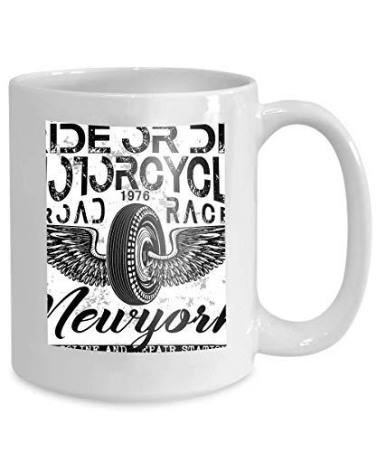 Kaffeetasse tee tasse motorrad label design benutzerdefinierte hieb chopper mode stil 110z
