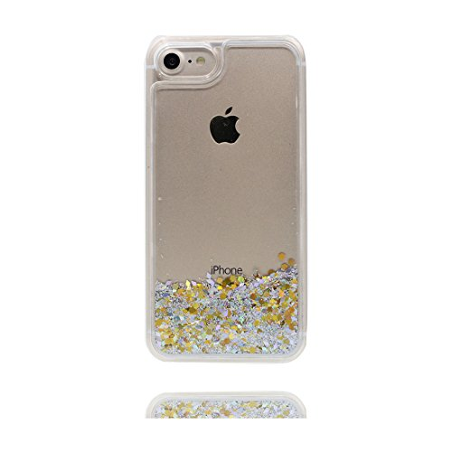 Hülle iPhone 7, [ Liquid Fließendes Glitzer Bling Bling ] iPhone 7 Handyhülle Cover (4.7 zoll), Floating sparkles, iPhone 7 Case Shell Anti-Beulen & Staubstecker Größerer Flamingo # 7