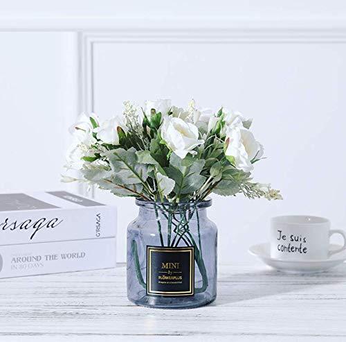LLSTRIVE Flores Artificiales, Flores secas, Flores de Seda, Balcones, Dormitorio, Sala de...