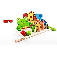 Toyvian Dibujos Animados de Madera Animal Croquet Juguete niños Deportes Jugando Golf de Madera Juguetes al Aire Libre Juegos Familiares Jugar temprano Juguetes educativos bebé