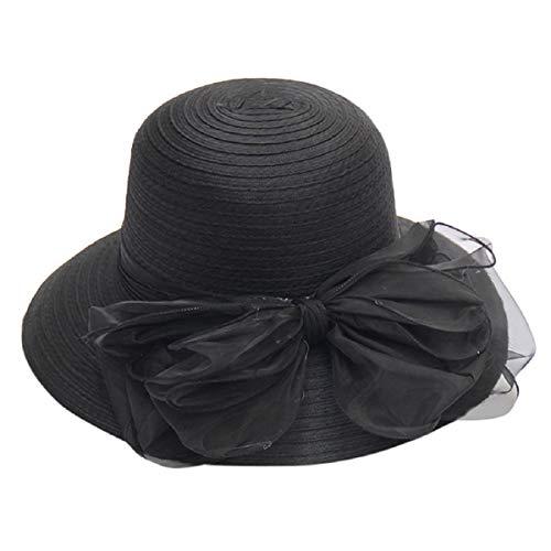 Barlingrock Damen Sonnenhut Kentucky Derby Cap Sommerhut für Hochzeitsreisen Reversible Cloche Hut