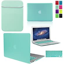LOVE MY CASE / BUNDLE EGG BLUE / OCEAN GREEN Hard Shell Case with matching KEYBOARD Skin and NEOPRENE Sleeve Cover for 13-inch Apple MacBook AIR [Will NOT fit MacBook Pro Models], [Importado de UK]