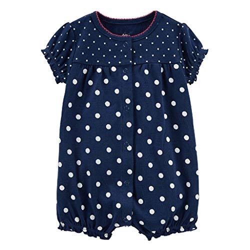 MRULIC Baby Strampler Mädchen und Jungen Einteilige Cartoon Gestreiften Bodysuit Kurzarm Overall Sommer Jumpsuit(Dunkelblau,6-9 Monate) - Arzt, Blazer