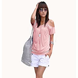 Japan Style von Mississhop Damen Top T - Shirt Bluse Longshirt Tunika Tanktop Oberteil