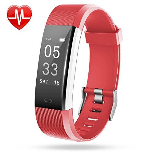 the latest 3cac7 9f11e Lintelek Fitness Armband Herzfrequenzmesser Fitness Tracker Plus HR Sport  Uhr Bracelet Spritzwasser geschützt Bluetooth Smartwatch Schrittzähler