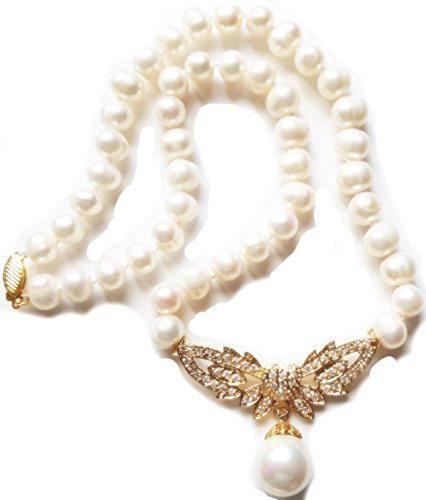 aaa-victorian-8-9mm-white-akoya-pearl-necklace-earring-set-18k-gold-plated-with-faux-diamonds